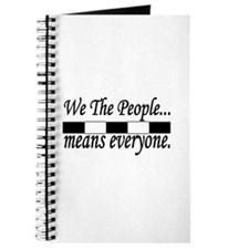 We the people black and white Journal