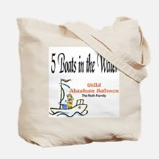 5 Boats in the Water Tote Bag