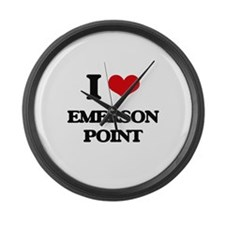 I Love Emerson Point Large Wall Clock