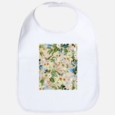 Vintage Wildflowers Pattern Bib