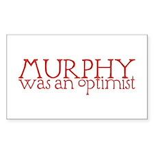Murphy: Optimist Rectangle Decal