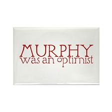 Murphy: Optimist Rectangle Magnet