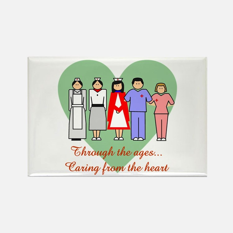 Caring From The Heart Rectangle Magnet