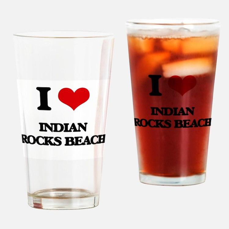 I Love Indian Rocks Beach Drinking Glass