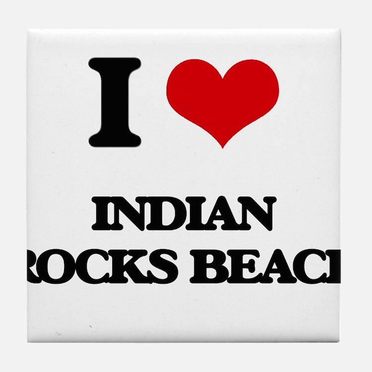 I Love Indian Rocks Beach Tile Coaster