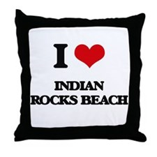 I Love Indian Rocks Beach Throw Pillow