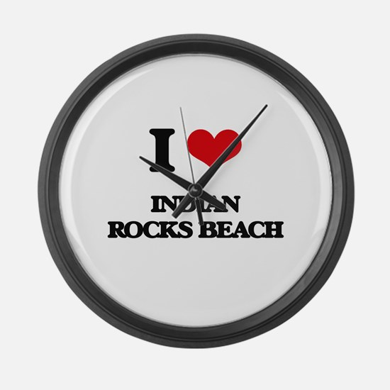 I Love Indian Rocks Beach Large Wall Clock