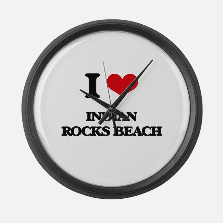 I Love Indian Rocks Beach Large Wall Clock