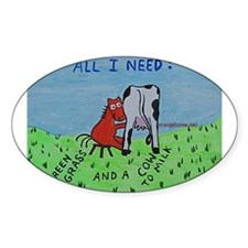 Dairy Cow Oval Decal