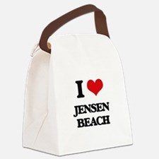 I Love Jensen Beach Canvas Lunch Bag