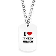 I Love Jensen Beach Dog Tags