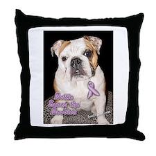 Bettie Boob Saves the Boobies! Throw Pillow