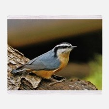 """NUTHATCH POSE"" Throw Blanket"