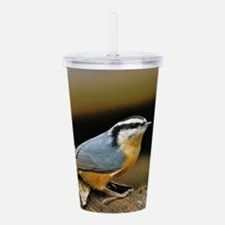 """""""NUTHATCH POSE"""" Acrylic Double-wall Tumbler"""