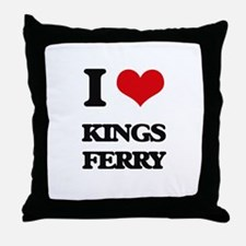 I Love Kings Ferry Throw Pillow