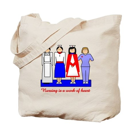 Nursing Is A Work Of Heart Tote Bag