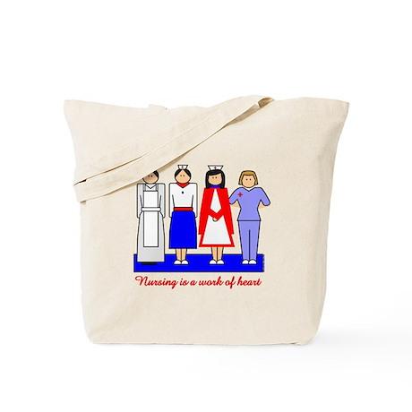 Nursing Is A Work Of Heart Tote Bag
