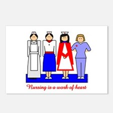 Nursing Is A Work Of Heart Postcards (Package of 8