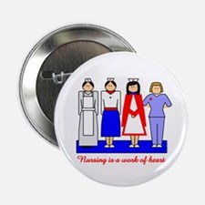 "Nursing Is A Work Of Heart 2.25"" Button (10 pack)"