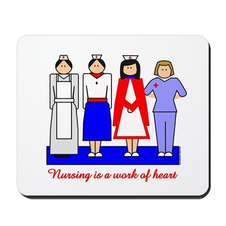 Nursing Is A Work Of Heart Mousepad