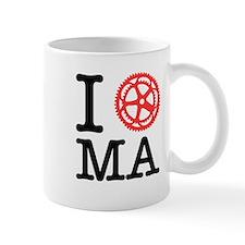 I Bike MA Small Mug