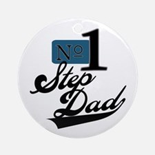 Number One StepDad Ornament (Round)