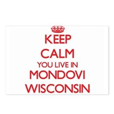 Keep calm you live in Mon Postcards (Package of 8)