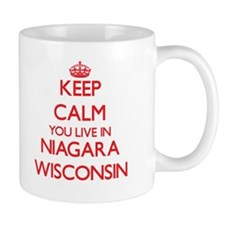 Keep calm you live in Niagara Wisconsin Mugs