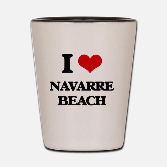 Unique Navarre beach vacation Shot Glass