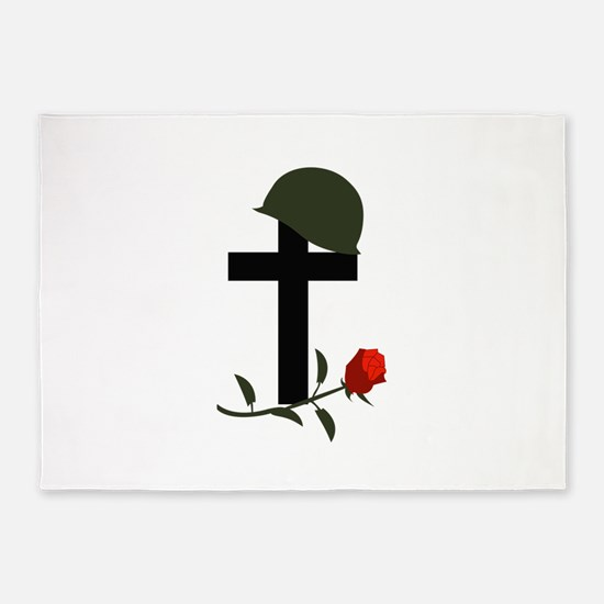 SOLDIERS GRAVE 5'x7'Area Rug