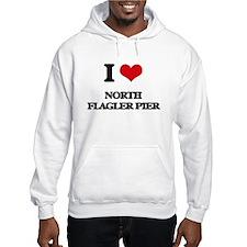 I Love North Flagler Pier Hoodie