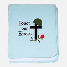 HONOR OUR HEROES baby blanket