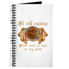 all wild creatures shall come Journal