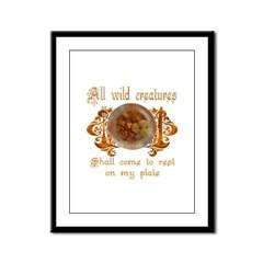all wild creatures shall come Framed Panel Print