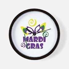 MARDI GRAS Wall Clock