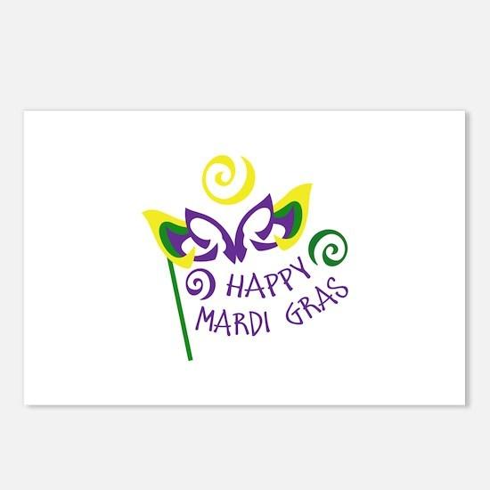 HAPPY MARDI GRAS Postcards (Package of 8)