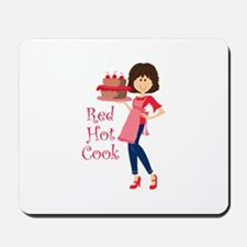 RED HOT COOK Mousepad