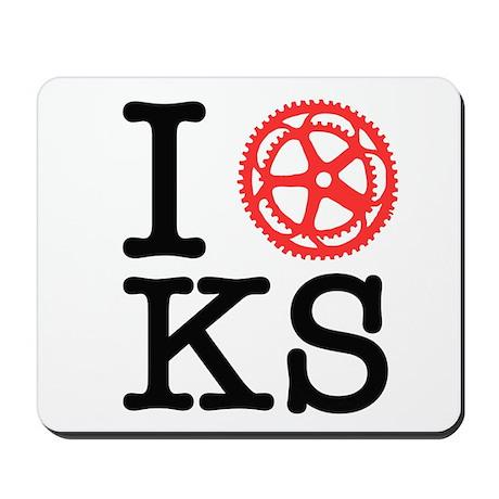 I Bike KS Mousepad