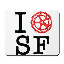 I Bike SF Mousepad