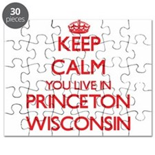 Keep calm you live in Princeton Wisconsin Puzzle