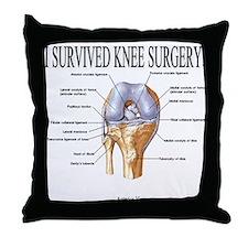 Knee Surgery Gift 3 Throw Pillow