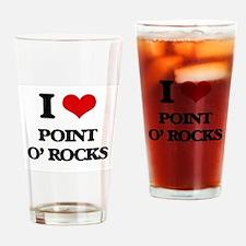 I Love Point O' Rocks Drinking Glass