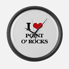 I Love Point O' Rocks Large Wall Clock