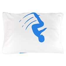 Blue Gymnast Silhouette Pillow Case