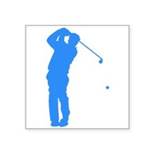 Blue Golfer Silhouette Sticker