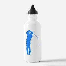 Blue Golfer Silhouette Water Bottle