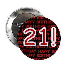 Happy 21st Birthday Button