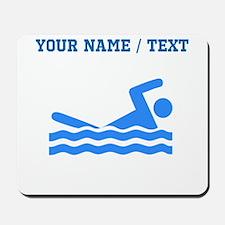 Custom Blue Swimmer Mousepad