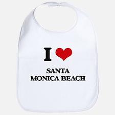 I Love Santa Monica Beach Bib