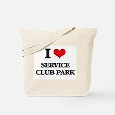 I Love Service Club Park Tote Bag